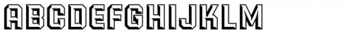 PowerStation Wedge Font LOWERCASE