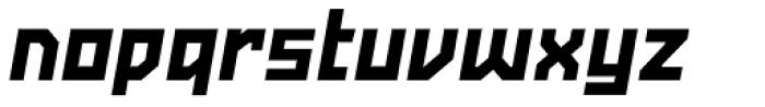 Powerlane Black Oblique Font LOWERCASE