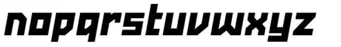 Powerlane ExtraBlack Oblique Font LOWERCASE
