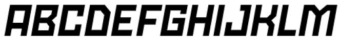 Powerlane ExtraBold Oblique Font UPPERCASE