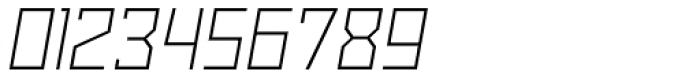 Powerlane Light Oblique Font OTHER CHARS