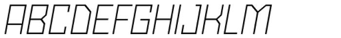 Powerlane Light Oblique Font UPPERCASE