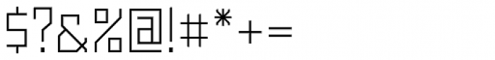 Powerlane Light Font OTHER CHARS