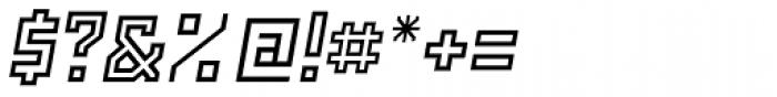 Powerlane Outline Oblique Font OTHER CHARS