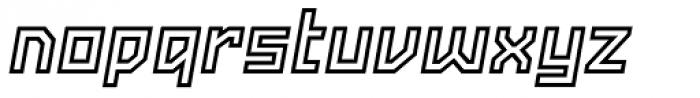 Powerlane Outline Oblique Font LOWERCASE