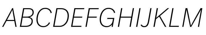Post Grotesk Thin Italic Font