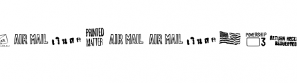 PO Box (plain) Font OTHER CHARS