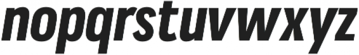Praktika Bold Cond Italic otf (700) Font LOWERCASE