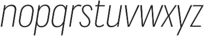 Praktika Light Cond Italic otf (300) Font LOWERCASE