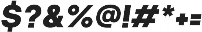Prayuth Black Italic otf (900) Font OTHER CHARS