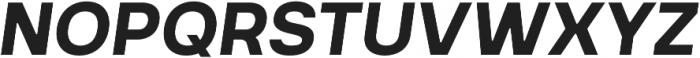 Prayuth Bold Italic otf (700) Font UPPERCASE