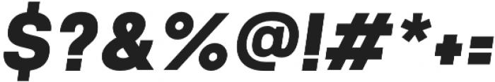 Prayuth Slim Black Italic otf (900) Font OTHER CHARS