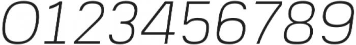 Prayuth Slim ExtraLight Italic otf (200) Font OTHER CHARS