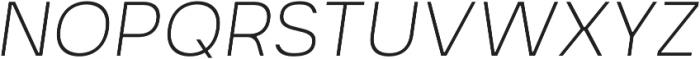 Prayuth Slim ExtraLight Italic otf (200) Font UPPERCASE
