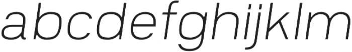 Prayuth Slim ExtraLight Italic otf (200) Font LOWERCASE