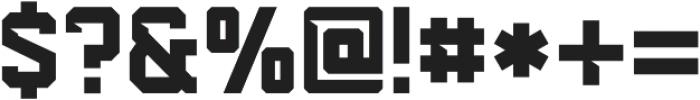 Predator 0316 - Slab Cut ttf (400) Font OTHER CHARS