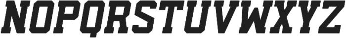 Predator 0316 - Slab Rounded Italic ttf (400) Font UPPERCASE