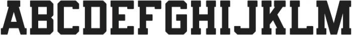 Predator 0316 - Slab Rounded ttf (400) Font UPPERCASE