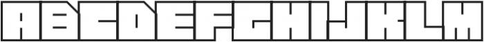 Press Shadow otf (400) Font LOWERCASE