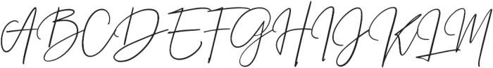 Prestige Signature Script otf (400) Font UPPERCASE