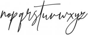 Prestige Signature Script otf (400) Font LOWERCASE