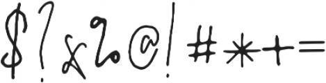 PrestigeScriptAlt otf (400) Font OTHER CHARS