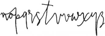 PrestigeScriptAlt otf (400) Font LOWERCASE
