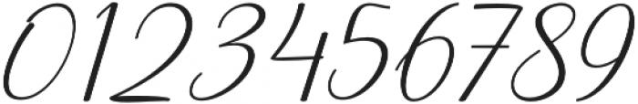 Prestiquen Slant Regular otf (400) Font OTHER CHARS