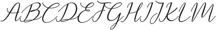 Prestiquen Slant Regular otf (400) Font UPPERCASE