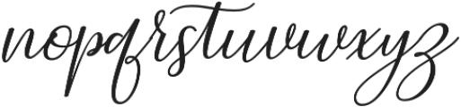Prestiquen Slant Regular otf (400) Font LOWERCASE