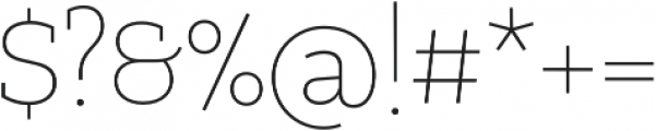 PretAPorter Slab Light otf (300) Font OTHER CHARS