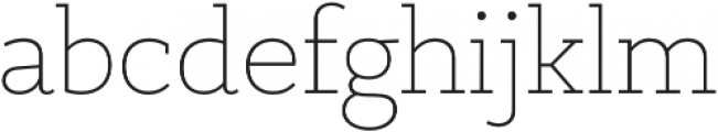 PretAPorter Slab Light otf (300) Font LOWERCASE