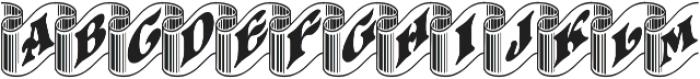 Pretoria Gross Ribbon ttf (400) Font UPPERCASE