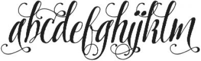 Pretty Script Alt 5 ttf (400) Font LOWERCASE