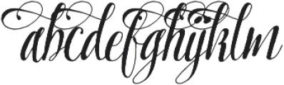 Pretty Script Alt 6 ttf (400) Font LOWERCASE