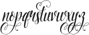Pretty Script Alt 7 ttf (400) Font LOWERCASE