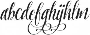 Pretty Script Alt 9 ttf (400) Font LOWERCASE