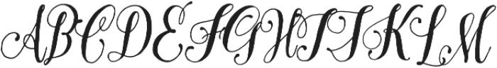 Pretty Script Pro otf (400) Font UPPERCASE