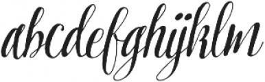 Pretty Script Pro otf (400) Font LOWERCASE