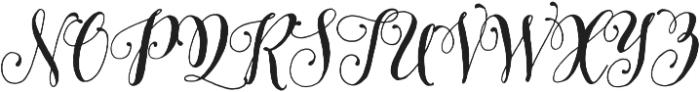 Pretty Script ttf (400) Font UPPERCASE