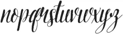 Pretty Script ttf (400) Font LOWERCASE