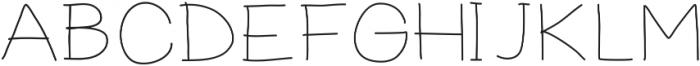 PrevekLight ttf (300) Font UPPERCASE