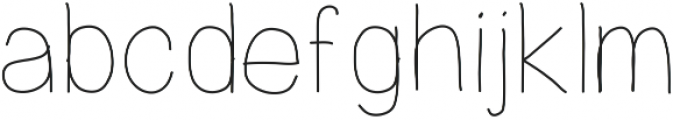 PrevekLight ttf (300) Font LOWERCASE