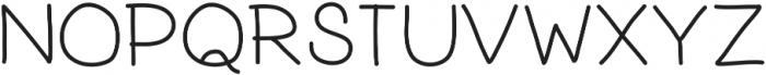 PrevekRegular ttf (400) Font UPPERCASE
