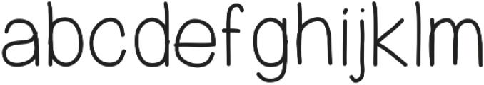PrevekRegular ttf (400) Font LOWERCASE