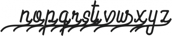 Preview Swash ttf (400) Font LOWERCASE