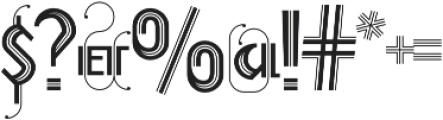 Prevya Display Adorno otf (400) Font OTHER CHARS