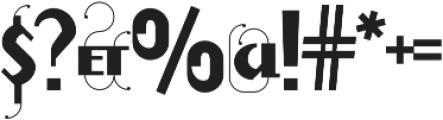 Prevya Display Shadow otf (400) Font OTHER CHARS