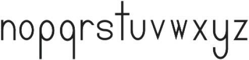 Pricisia Bold otf (700) Font LOWERCASE