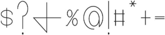 Pricisia Regular otf (400) Font OTHER CHARS